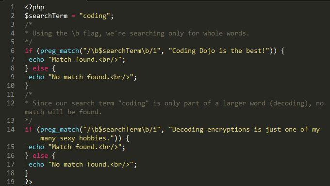 PHP Example Code | Coding Dojo