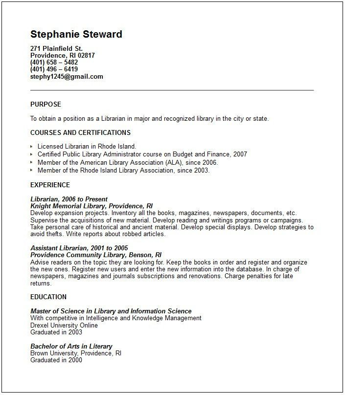 librarian resume samples visualcv resume samples database library ...