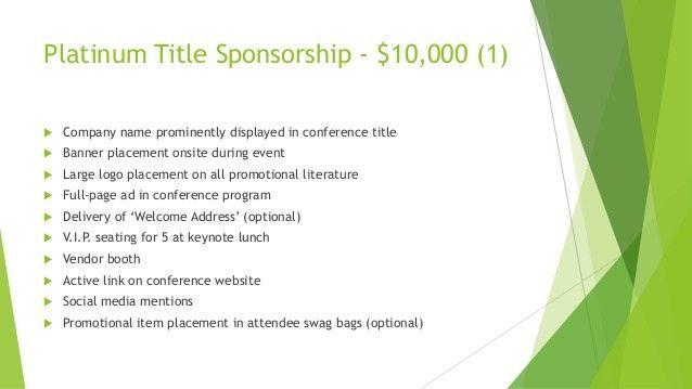 Designing the Dream Entrepreneur Conference Sponsorship Proposal