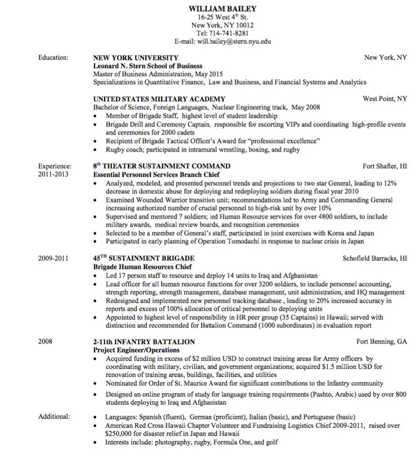 military resume sample - http://exampleresumecv.org/military ...