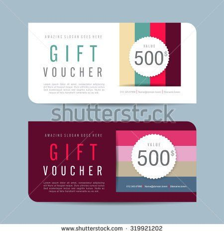 Gift Voucher Template Flat Style Vector Stock Vector 663650458 ...
