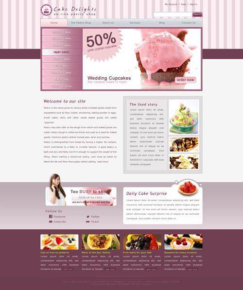 Cake Website Template | Free Website Templates