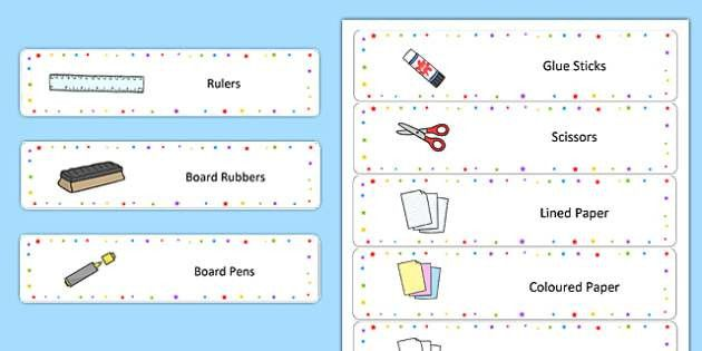 Multicoloured Star Drawer Labels - name tags, signs