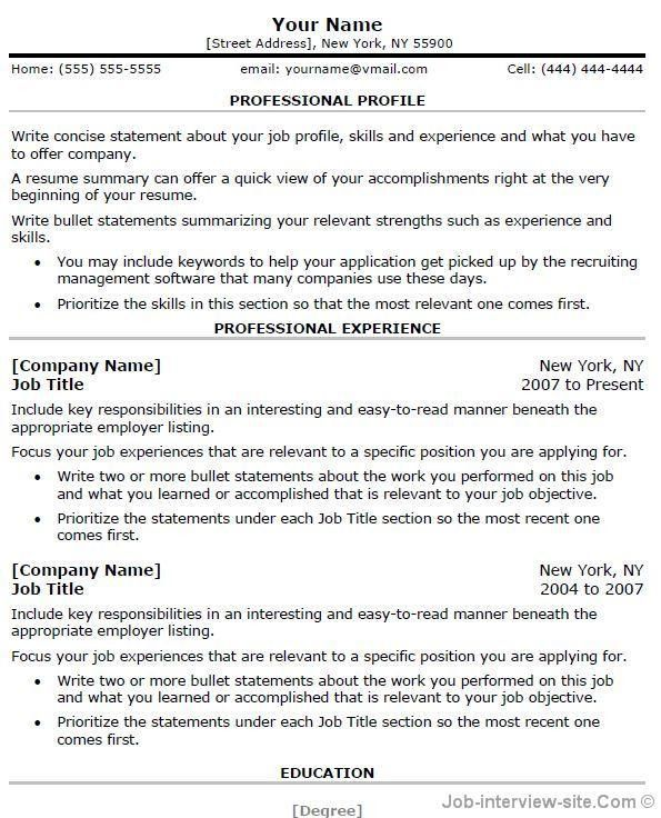 Resume Examples. Best 10 samples sales resume template word ...
