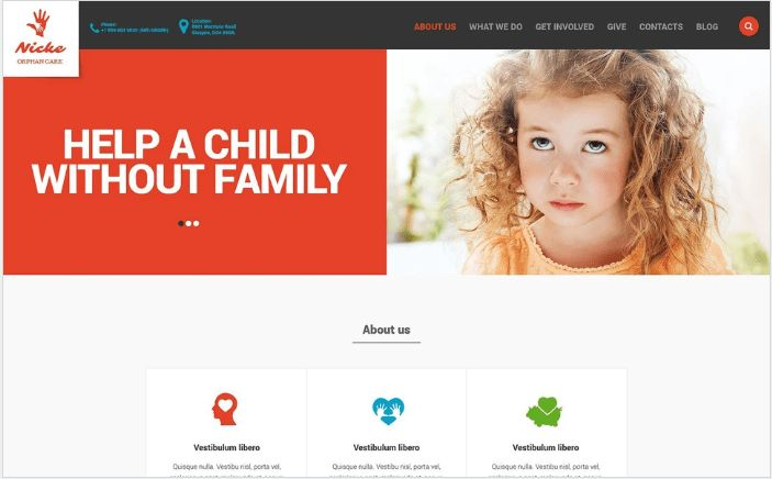 50+ Best Charity HTML Website Templates 2017