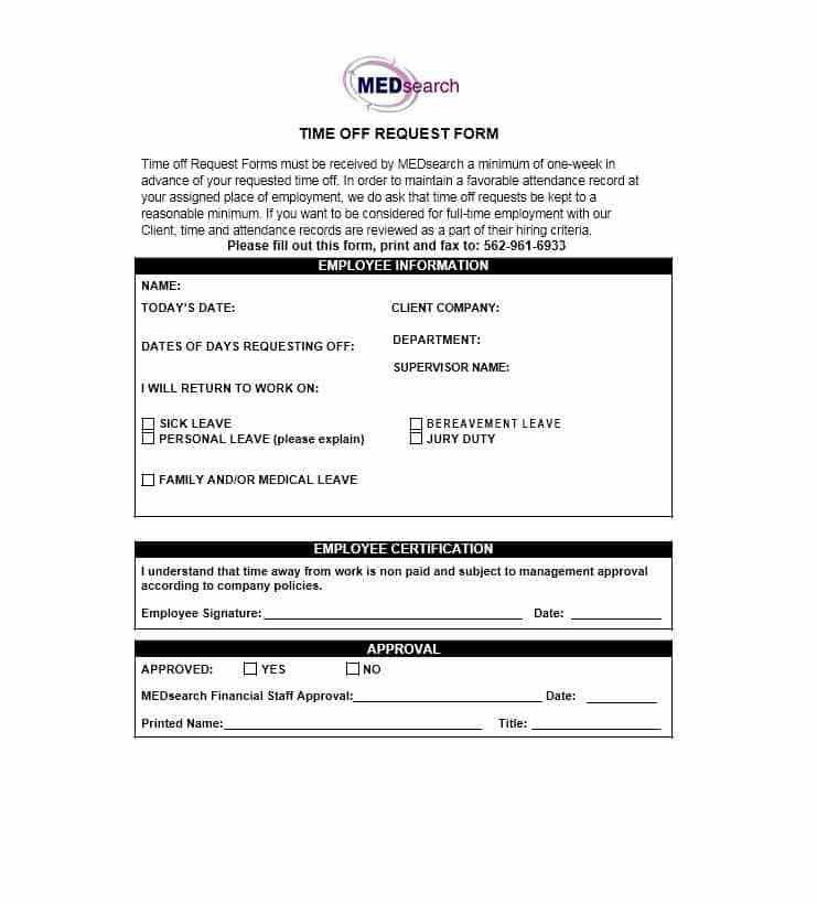 Annual Leave Form Template   Contegri.com  Leave Forms Template