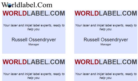 Name Badge Labels Easy and Template | Worldlabel Blog