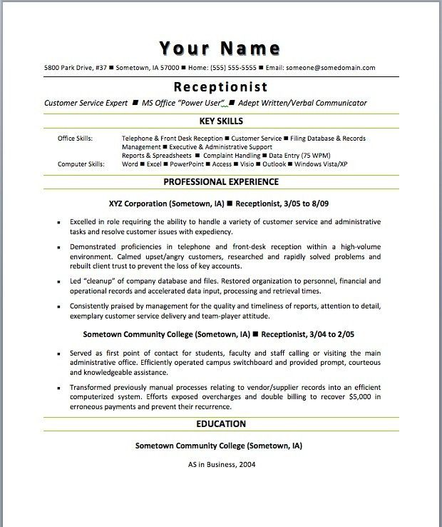medical receptionist job description resume for receptionist job ...
