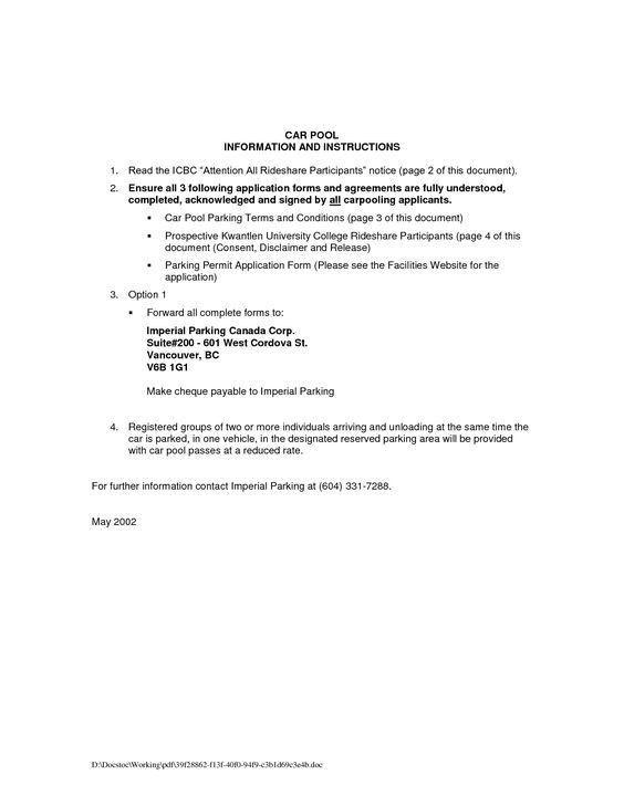 Liability Release Letter | Cvletter.csat.co