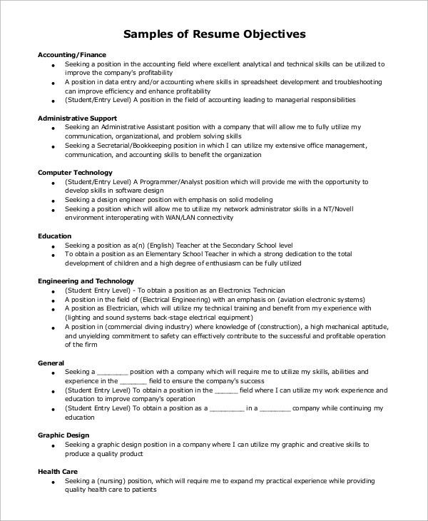 Sample Resume Objective. Accounts Receivable Clerk Resume Example ...