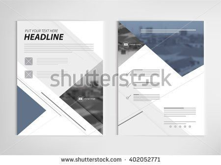 Annual Report Template Design Book Cover Stock Vector 402052885 ...