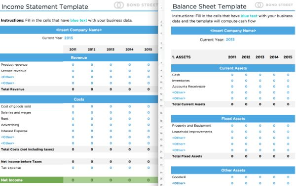 Balance Sheets and Income Statements Templates — Alignable