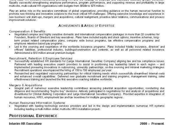 Proactive Human Resource Resume Proactive Human Resource Resume