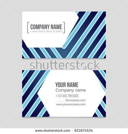 Business Blue Visiting Card Vector Design Stock Vector 435660529 ...