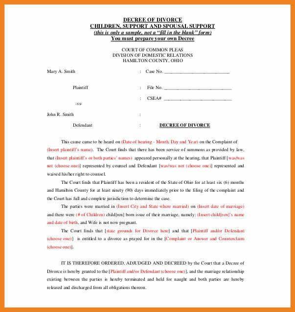 sample divorce papers | teller resume sample