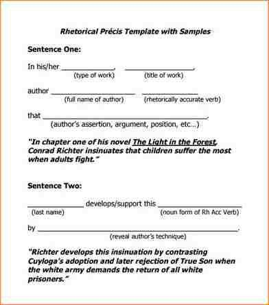 Precis Template. summary of nonfiction template by heather fleming ...
