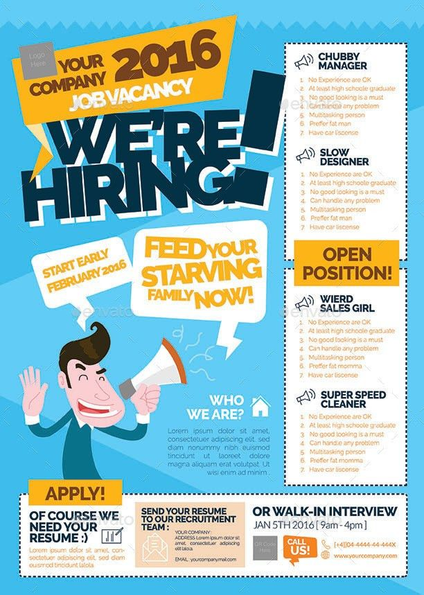 Job Vacancy Flyer by shamcanggih | GraphicRiver