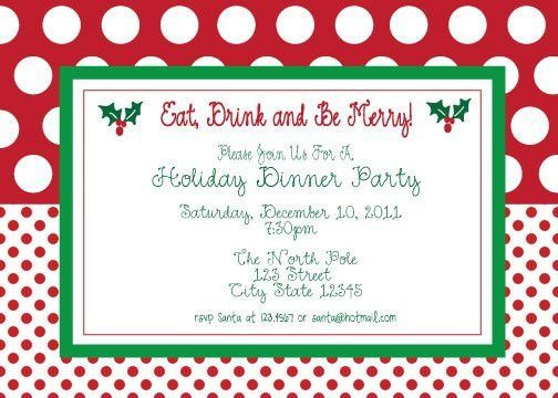 Christmas Party Invitation Template. free printable christmas ...