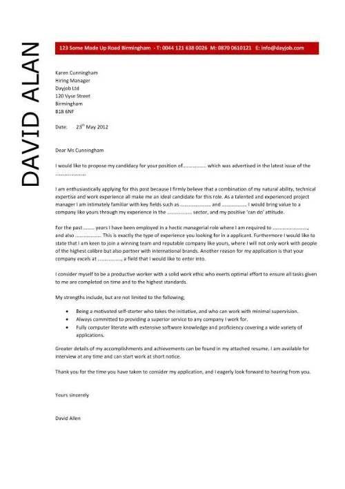 Interjob » cover letter sample for fresh graduate. cover letter ...