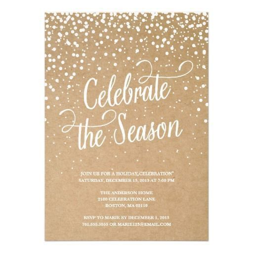 Party Invitations: Marvellous Holiday Party Invite Designs Holiday ...