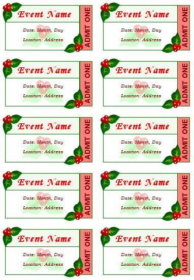 Event Ticket Template | Templates | Pinterest | Ticket template ...