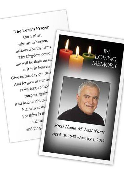 funeral card template