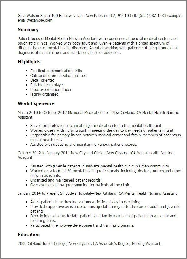 cna objective resumes template sample resume nursing words sle ...