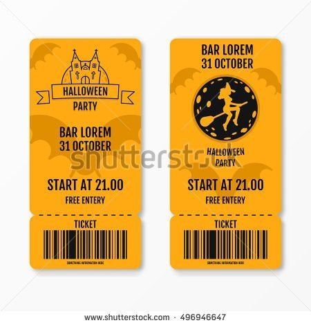 Ticket Design Template Retro Style Gold Stock Vector 202933033 ...