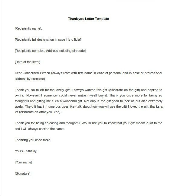 Personal Letter Template - 39+ Free Sample, Example Format   Free ...