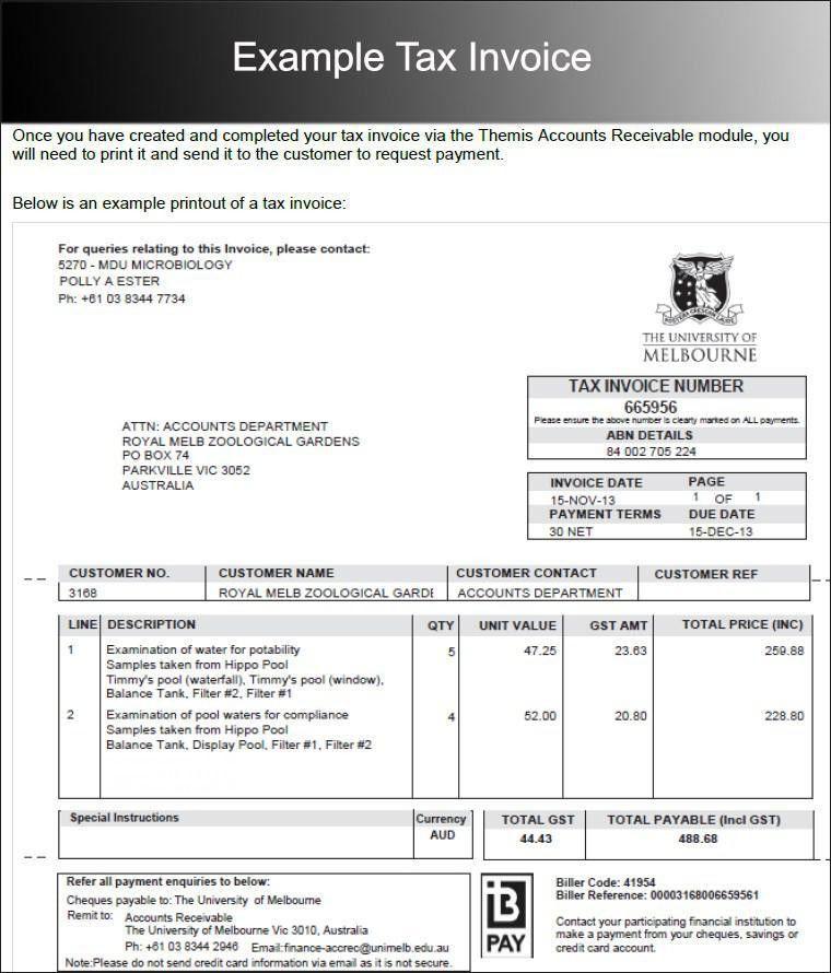 Tax Invoice Template. Tax Invoice Template Tax Invoice Template ...