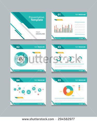 Business Presentation Template Setpowerpoint Template Design Stock ...