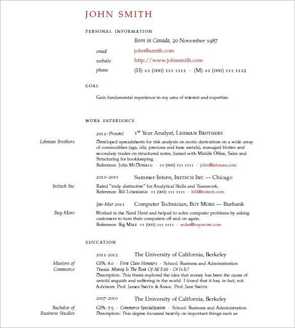 15 latex resume templates free samples examples formats - Resume Latex Template