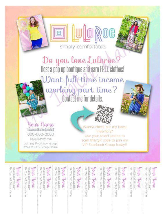LuLaRoe Consultant Tear-Off Flyer LuLaRoe by TheDigitalMama ...