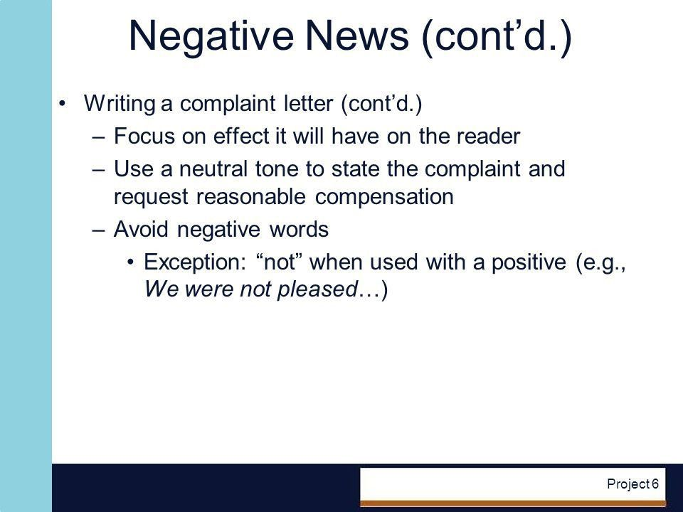 Messages with Negative News - ppt video online download