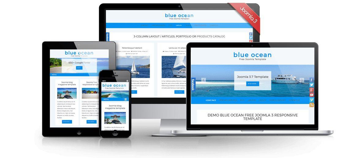 Blue Ocean Free Joomla 3.8 Template | Joomla Templates | JooThemes.net