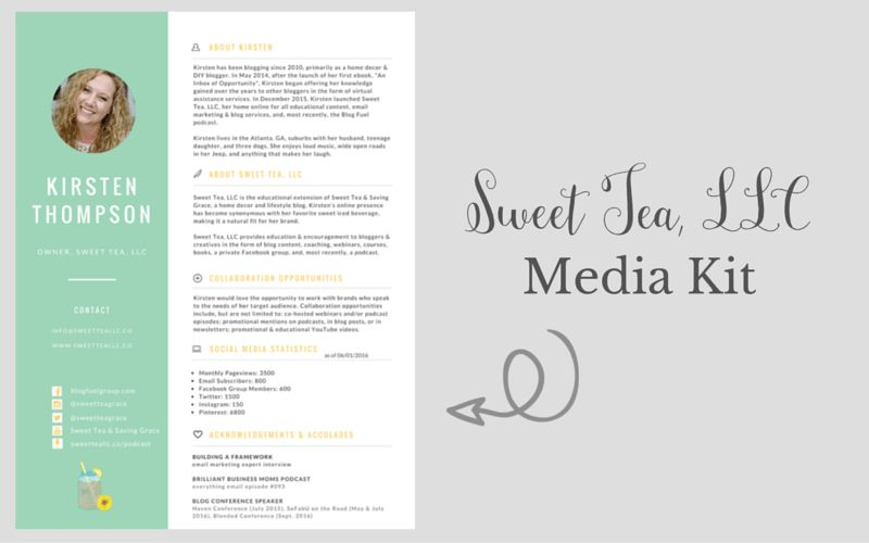 How to Create a Killer Media Kit | Sweet Tea, LLC
