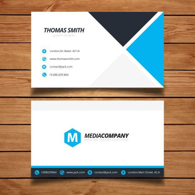 Modern minimal business card template Vector | Free Download