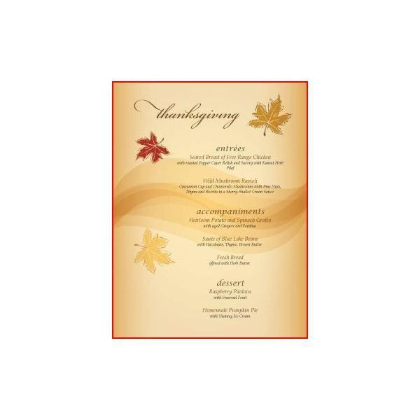 Great Thanksgiving Day Menu Templates to Entice and Enthrall Your ...