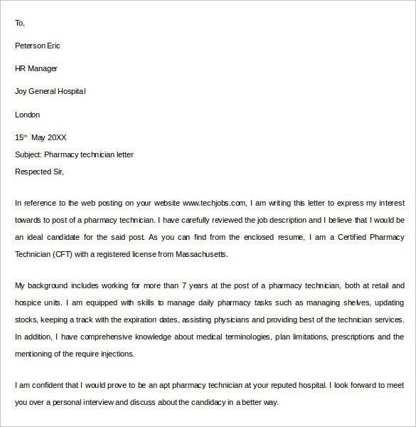 Sample Pharmacy Letter Template - 14+ Free Documents in PDF, Word