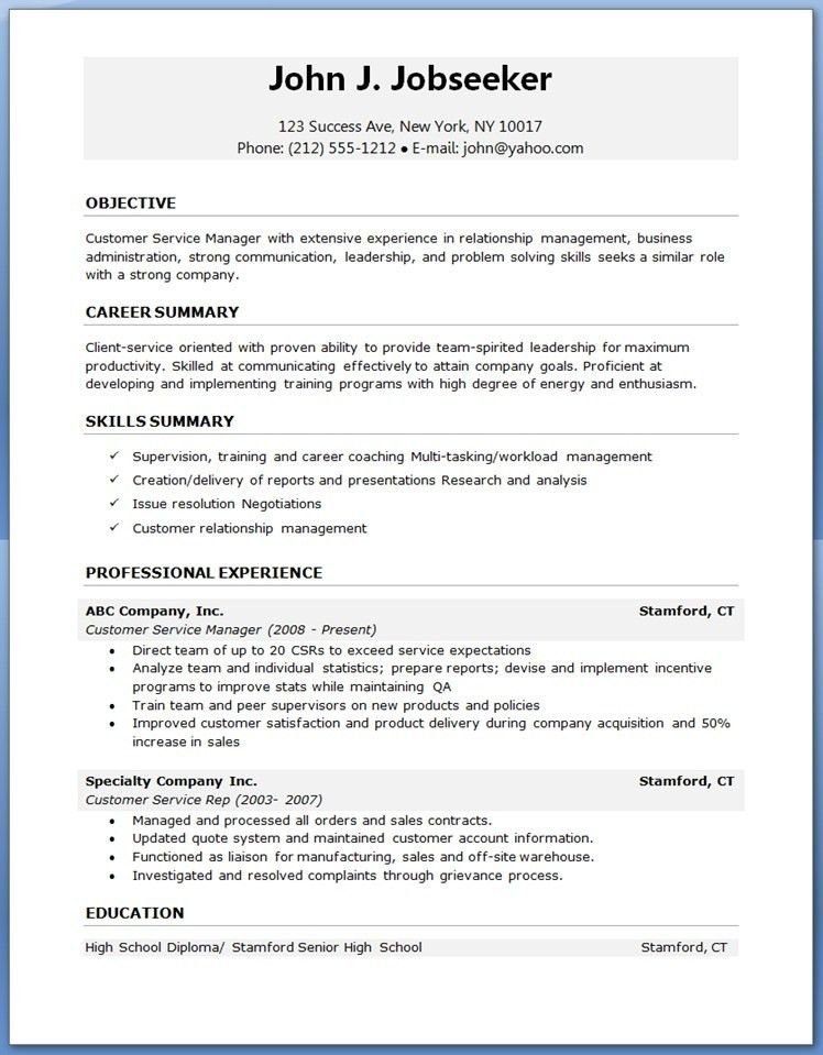 Microsoft Word Resume Template Download. Exclusive Idea Resume ...