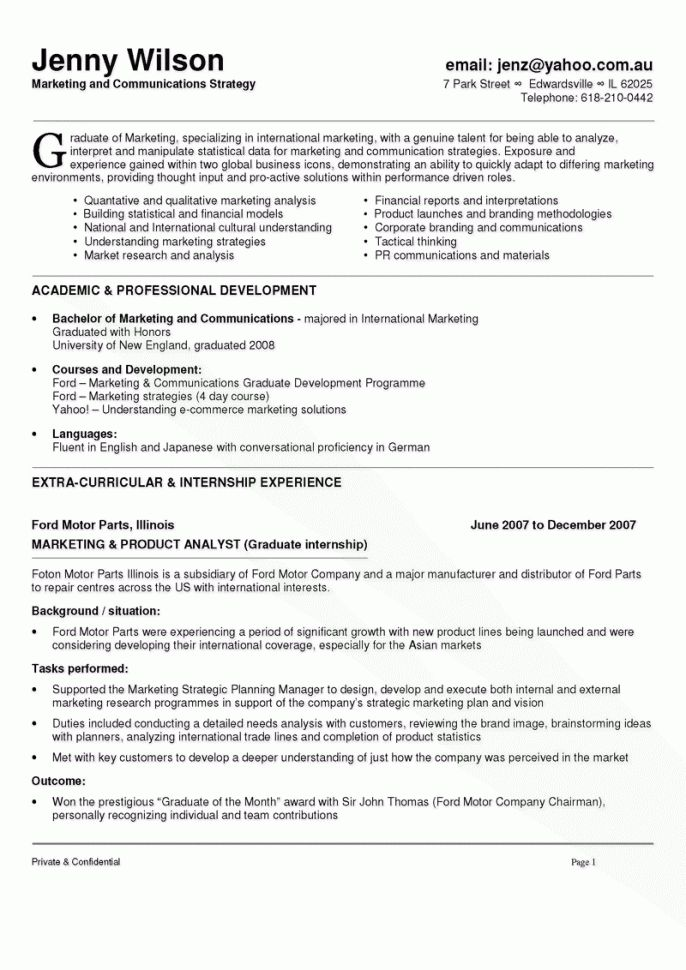 Communications Resume Samples Communications Resume Template ...