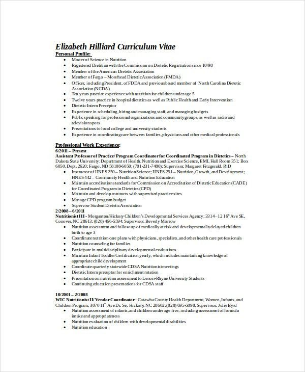 registered dietitian resume dietitian resume template 6 free word