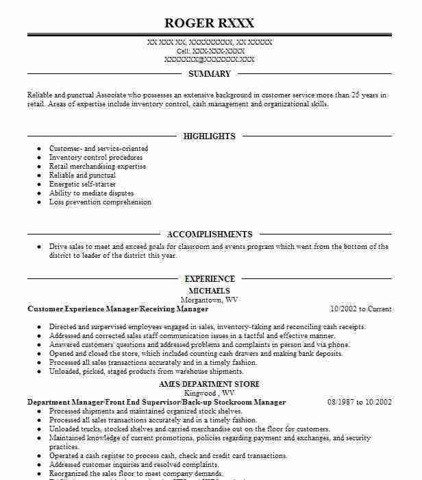 assistant manager sample resume assistant manager resume retail