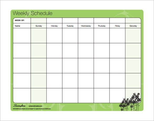 Family Schedule Template – 8+ Free Word, Excel, PDF Format ...