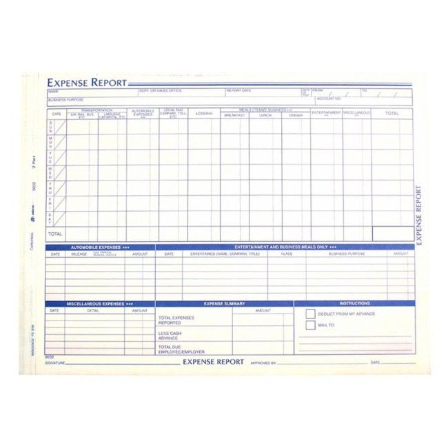 Microsoft Office Expense Report Template [Template.billybullock.us ]