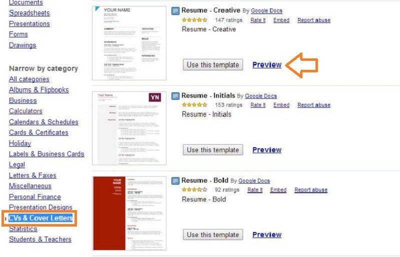 Resume Example: Resume Templates Google Docs Resume Templates ...