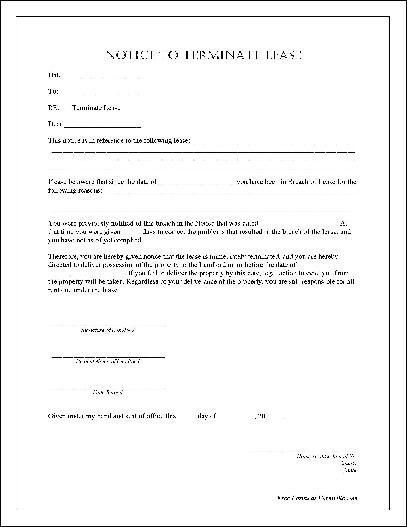 Lease Termination Letter From Landlord Lease Termination Letter
