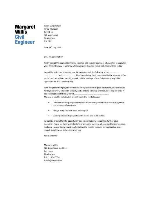 Cover letter geotechnical engineering