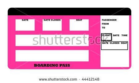 Illustration Blank Airline Boarding Pass Ticket Stock Illustration ...