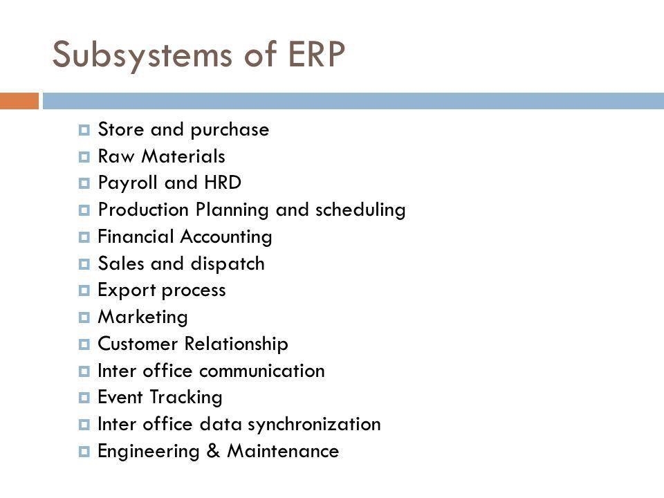 ENTERPRISE RESOURCE PLANNING ERP S. AMEER HASAN RIZVI. - ppt download